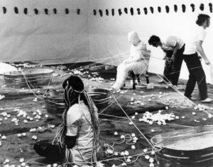 Aviva Rahmani, Suzanne Lacy, Judy Chicago, and Sandi Orgel, Ablutions (1972).