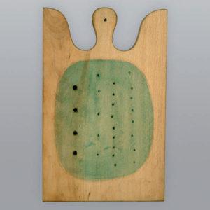 In copertina: Lucio Fontana, Concetto spaziale, Tagliere in legno, tempera, cm 39,4x25,3x3,8