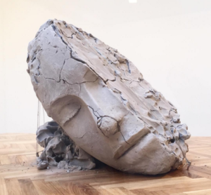 Mark Manders, Dry Head on a Wooden Floor (dettaglio), 2015