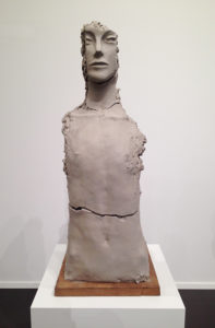 Mark Manders, Unfired Clay Torso, 2014-2015